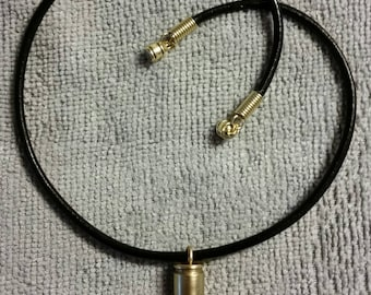 9-mm Cartridge Pendant Necklace