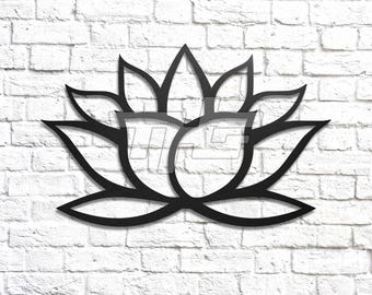 Lotus Flower Metal Art