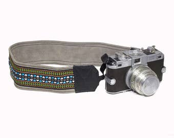 MCCURRYCamel Leather Camera Strap, Universal Camera Strap, Camera Accessories, Personalized Camera Strap.