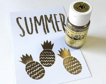 gold embossing powder | tsukineko emboss powder | 30ml | use with versacraft versacolor versamark & other emboss ink pads | diy wedding