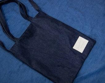 Tote Bag, Laptop Bag, Tote, Shoulder Bag, Blue, Denim Bag