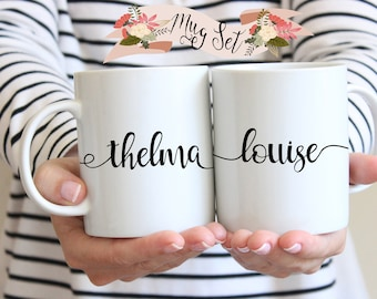 Best Friends Mug Set, Best Friend Gift, Thelma and Louise, Best Friend, BFF Gift, Birthday Gift for Best Friend, Birthday Gift for Sister