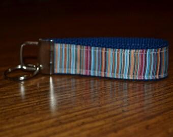 SALE! Navy Stripes Keychain