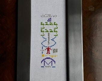 PATTERN - Arecibo Message Cross Stitch