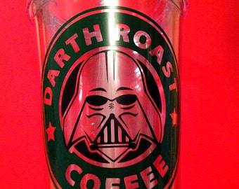 Darth Vader, Darth Roast, Star Wars, Insulated Tumbler Drink ware, Force Awakens, Tumbler with straw, May the Force be with you