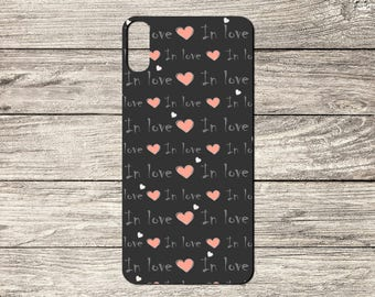 In Love Text Pattern TPU Case For iPhone 5/5S 6/6S 7 8 & X (S6249)