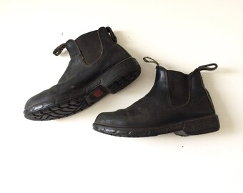 Men's Rossi Black Leather Boot / Size 10