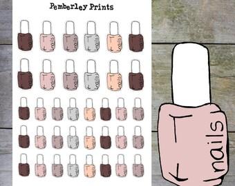 Nail Polish // Fall/Autumn Soft Coloured Hand Drawn Nail Polish Stickers // HD4