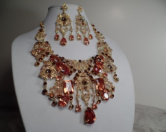 Over the Top Necklace and Earrings Set with Super Sparkle