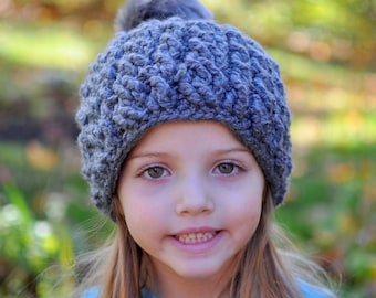 Crochet Pattern for Chunky Double Cable Beanie Hat - 5 sizes, baby to large adult - Welcome to sell finished items