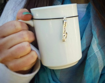 "Inspirational ""strength"" Mug-Charm"