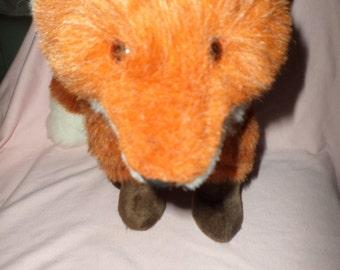 """Mary Engelbreit Fox plush ME Love by Hallmark 1992 red fox white brown 10"""" to 13"""""""