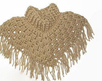 Handmade Baby Poncho - Crochet Baby Shawl - Baby's First Poncho - Cowl Neck Poncho - Custom Baby Clothes - Handmade Baby Clothing