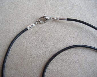 Black Genuine Leather Cord Necklace
