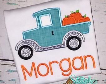Old Timer Pumpkin Truck Shirt, Romper or Bodysuit