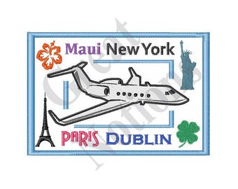 Travel Destinations - Machine Embroidery Design