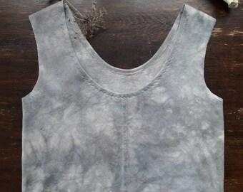 Plant dyed cropped top || Organic Hemp + Cotton fabric