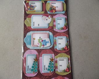 x 12 mixed multicolor No. 3D Christmas gift tags 2