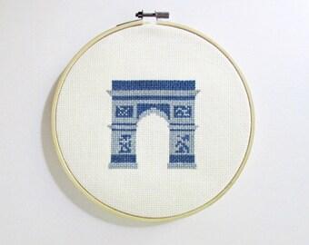 Paris Arc de Triomphe cross stitch pattern PDF - Instant download