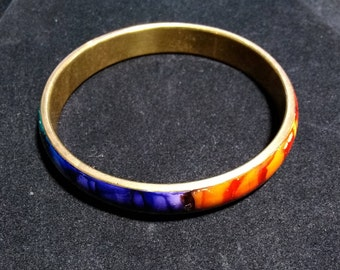 Vintage  rainbow colored fire bracelet. Festive christmas bracelet.