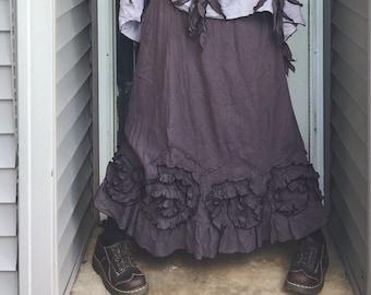 Flouncey Swirl Long Skirt XL