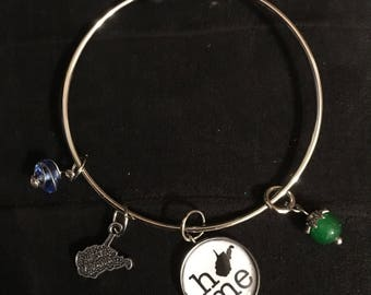West Virginia Wild and Wonderful Bangle Charm Bracelet