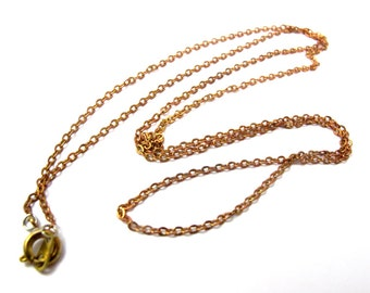Vintage Red Brass Cable Chain Necklaces (4X) (24 inches) (C660)