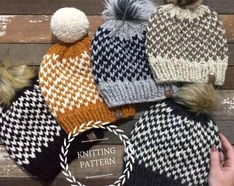 Burlington Beanie Knitting Pattern/ Knitting Pattern/ PDF Pattern