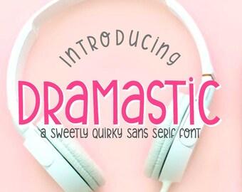 Digital Font Download, Handwritten Font, Dramastic, Open Type Font otf,