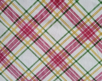 Plaid Osnaburg Glitter Cotton Fabric Sold by the Yard