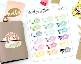 Sleep In Stickers - Word Art Stickers - Tired Stickers - Planner Stickers - Sleep Stickers - 373