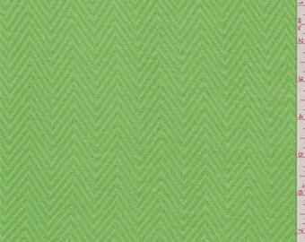 Lime Green Herringbone Knit, Fabric By The Yard