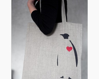 Reusable market bag , grocery bag collection - linen tote bag - shopping tote - market bag - reuse produce bag