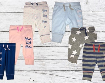 Custom Baby Sweat Pants - Request Custom Text/Design!!