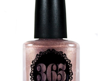 Dark Rose Gold Metallic Nail Polish - Zolota