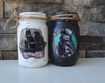 Pirates of the Caribbean set of 2 Decorative Jars