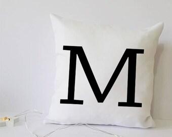 personalised gift, inital cushion, inital pillow, cushion, throw cushion,inital gift, small throw cushion, personalised cushion