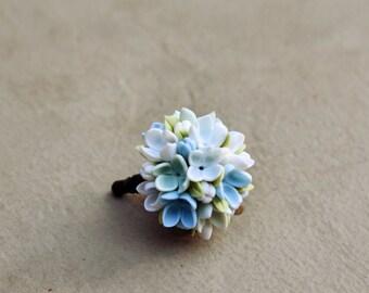 lilac Cell phone dust plug, phone accessories, handmade phone charm, polymer flower