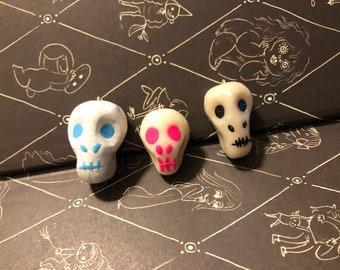 Set of Three Skull Ornaments