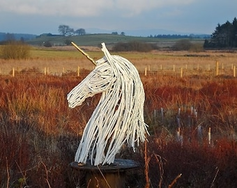 Bespoke Wooden Unicorn Sculpture