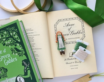 Anne of Green Gables Worry Doll | Anne Shirley Christmas Ornament | Anne of Green Gables Clothespin Doll