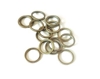 20 bronze round rings, 12mm, closed circles
