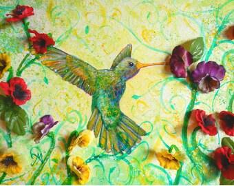 Humming Bird Photo Print