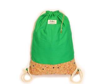 Ochos | Green Cork Sack Bag