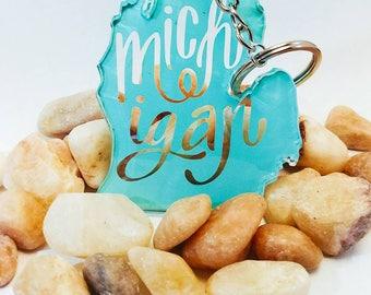 Michigan keychain, new homeowner gift, pure michigan