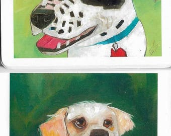 Memo Books Shelter Dogs Lot Of Two