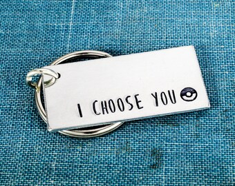 I Choose You Keychain - Retro Video Games - Gamer Gift - Gifts for Gamers - Video Game Jewelry