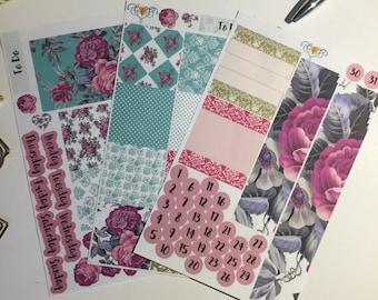 PICK YOUR MONTH Enchanted rose Happy Planner monthly kit, monthly planner stickers, sticker kit, happy planner stickers,
