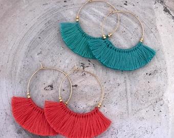 Boho earrings fringe earrings tassel earrings bohemian trival