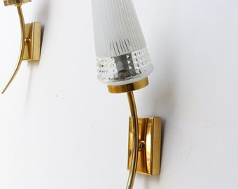 Wall sconces. 50s sconces. Mid century wall sconces. Pair of vintage wall sconces.